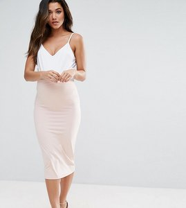 Read more about Asos maternity over the bump midi pencil skirt in jersey - blush