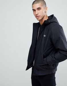 Read more about Fred perry quilted hooded brentham jacket in black - 102