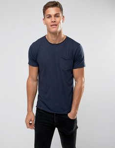 Read more about Brave soul basic raw edge t-shirt - navy