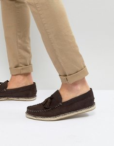 Read more about Frank wright tassel espadrilles in brown suede - brown