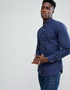 Read more about Polo ralph lauren slim fit garment dyed shirt polo player in navy - navy