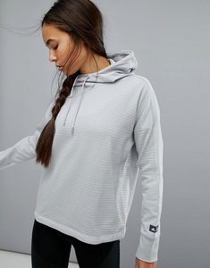 Read more about Adidas reigning champ fleece hoodie in grey - grey