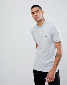 Read more about Lacoste slim fit pique polo in grey - cca