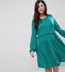 Read more about Junarose long sleeve skater dress - teal
