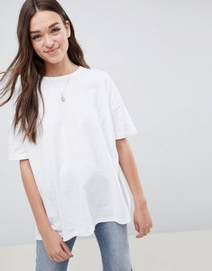 Read more about Asos design super oversized t-shirt with drop shoulder in white - white