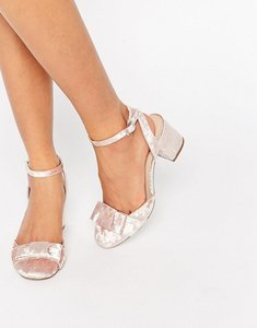 Read more about Asos spree bow detail heels - pink velvet