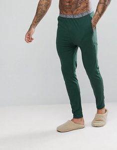 Read more about Asos skinny leg jersey pyjama bottom with branded waistband - cactus