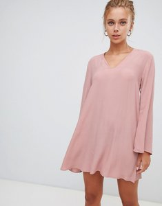 Read more about Glamorous 3 4 sleeve swing dress - dusty pink