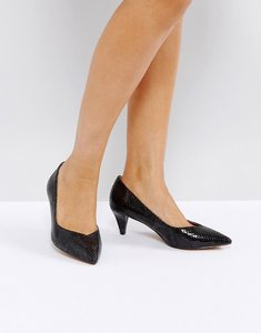 Read more about Asos salsa kitten heels - black snake