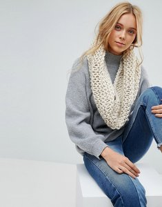 Read more about French connection chunky knitted winter snood - oatmeal