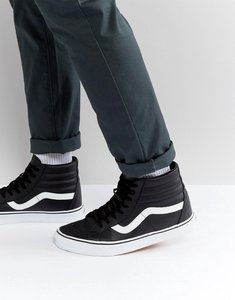 Read more about Vans sk8-hi leather trainers in black va2xsbnqr - black