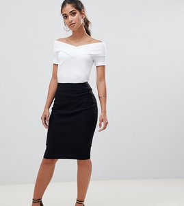 Read more about Asos design petite high waisted pencil skirt - black
