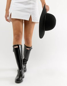 Read more about Hunter original tour gloss wellington boot - black