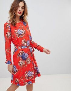 Read more about Y a s stripe floral clash shift dress - multi