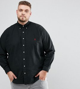 Read more about Polo ralph lauren plus oxford shirt in black - rl black