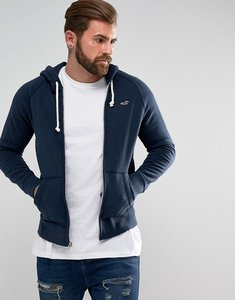 Read more about Hollister hoodie regular fit icon logo in navy marl - navy