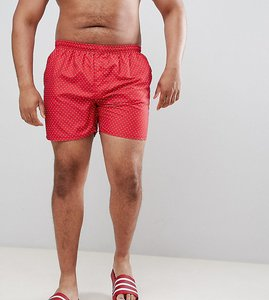 Read more about French connection plus dot swim shorts - red