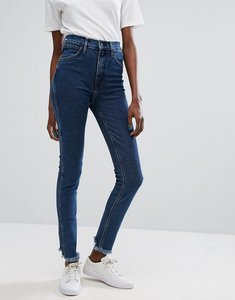 Read more about Levis line 8 high waisted skinny jean with raw hem - l8 fence blue
