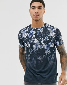 Read more about Burton menswear t-shirt with floral fade in navy