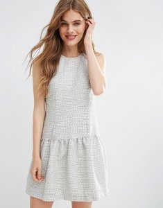 Read more about Traffic people peplum ditto dress - grey