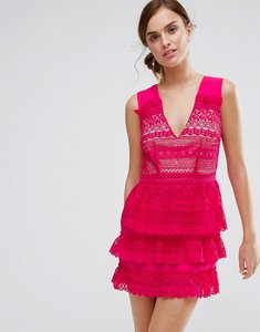 Read more about Little white lies rory tiered skirt dress - pink
