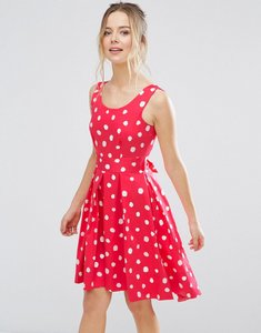 Read more about Closet london polka dot skater dress - pink