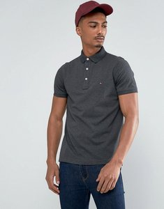 Read more about Tommy hilfiger pique polo shirt in charcoal - grey