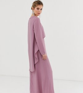Read more about Verona long sleeved layered dress in dusty rose