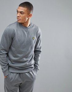 Read more about Lyle scott fitness thompson fleece sweat in grey marl - grey marl