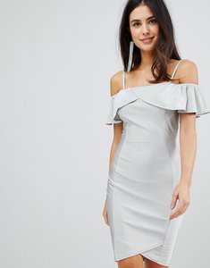 Read more about Ax paris midi dress with overlay - silver
