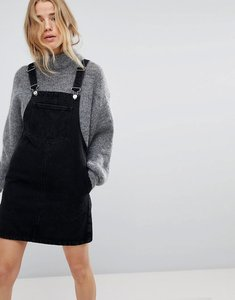 Read more about Miss selfridge denim dungaree dress - black