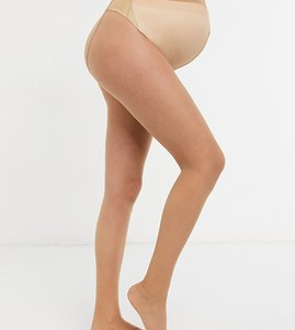 Read more about Asos maternity new improved fit 15 denier tights in golden bronze - beige