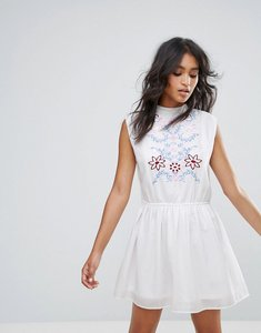 Read more about Rage embroidered sleeveless dress - white