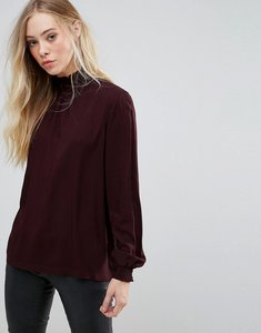 Read more about B young printed high neck blouse - beetroot