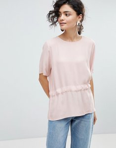 Read more about Selected femme drop hem blouse - sepia rose