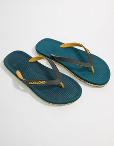 Read more about Jack jones flip flops with moulded sole - legion blue