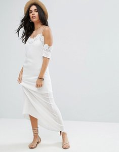 Read more about Raga lotus crochet trim maxi dress - white