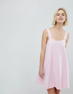 Read more about Asos swing sundress with low back - pale pink