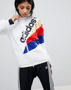 Read more about Adidas originals tribe track top in white - white