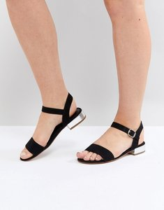 Read more about Head over heels by dune two part low heel sandal in black - black