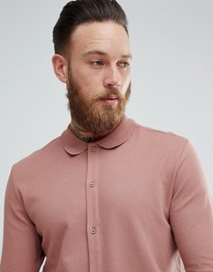 Read more about Selected homme slim fit jersey polo shirt in pink - burlwood