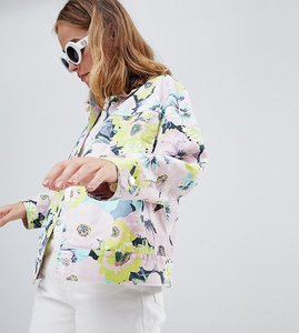 Read more about Asos design petite printed floral jacket - multi