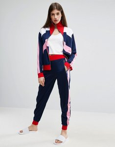 Read more about Asos track pant with colour block panels co-ord - multi