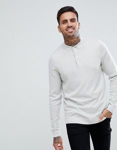Read more about New look knitted polo in ice grey - sterling silver