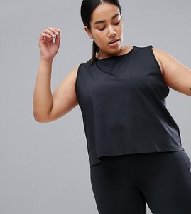Read more about Asos 4505 curve vest top with laser cut technology - black