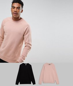 Read more about Asos sweatshirt 2 pack black pink marl save - black fairy