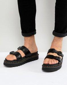 Read more about Dr martens myles slide sandals in black - black