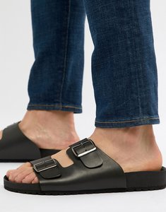 Read more about Asos design sandals in black with buckle - black