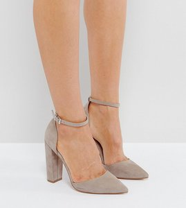 Read more about Asos penalty pointed high heels - grey