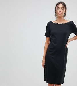 Read more about Y a s tall scallop shift dress - bk1 - black